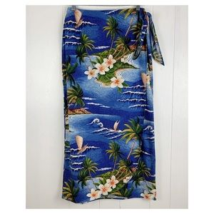 Vintage Hawaiian wraparound skirt
